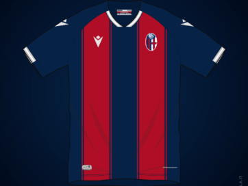 Illustration of Bologna 2020 2021 home shirt