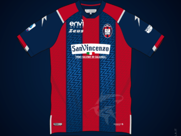 Illustration of Crotone 2020 2021 home shirt