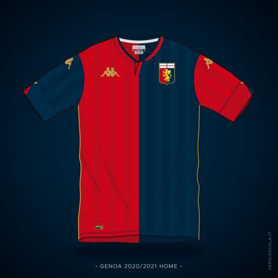 Genoa 2020 2021 home shirt by Kappa