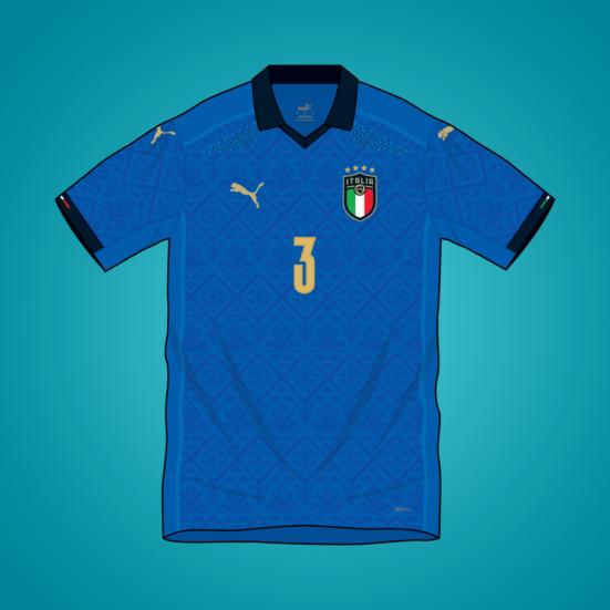 Italy Euro 2020 home shirt by Puma