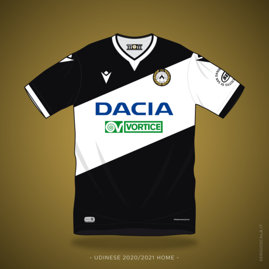 Udinese home shirt 2020 2021 by Macron