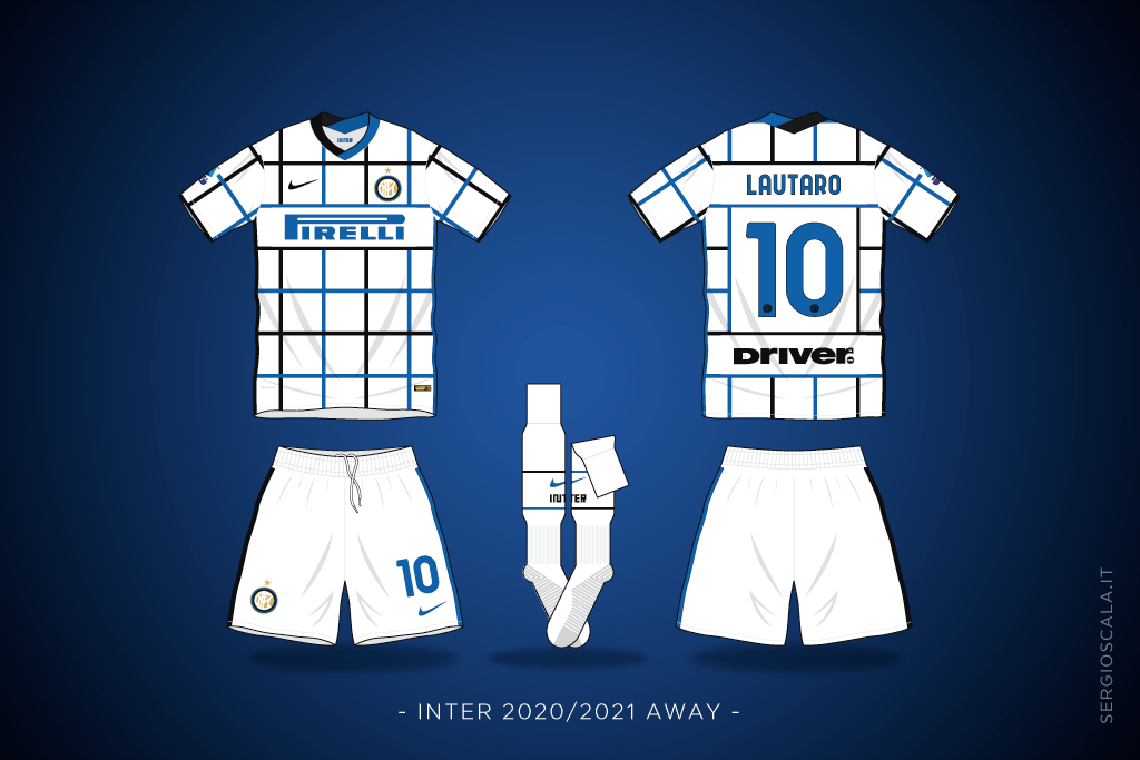 Vector illustration of Inter 2020 2021 away shirt by Nike
