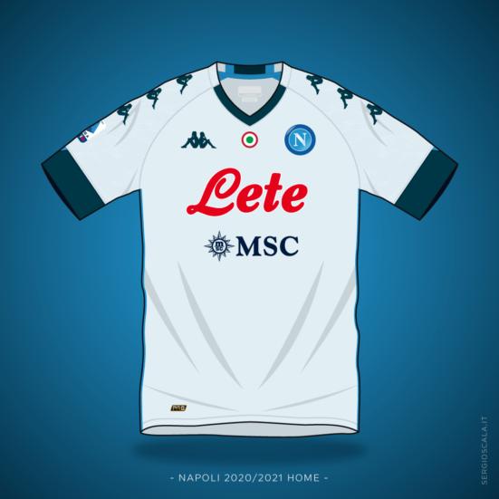 Vector illustration of Napoli 2020 2021 away shirt by Kappa