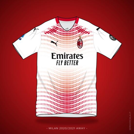 Vector illustration of Milan 2020 2021 away shirt by Puma